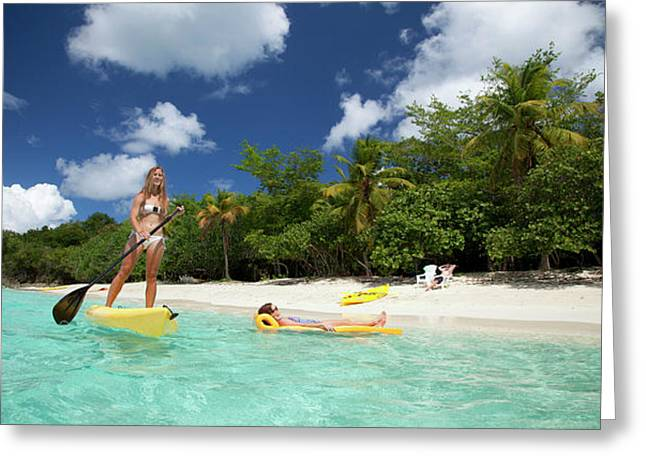 Enjoyable Water Sports Activities In St. Thomas Greeting Card by Peter Parker
