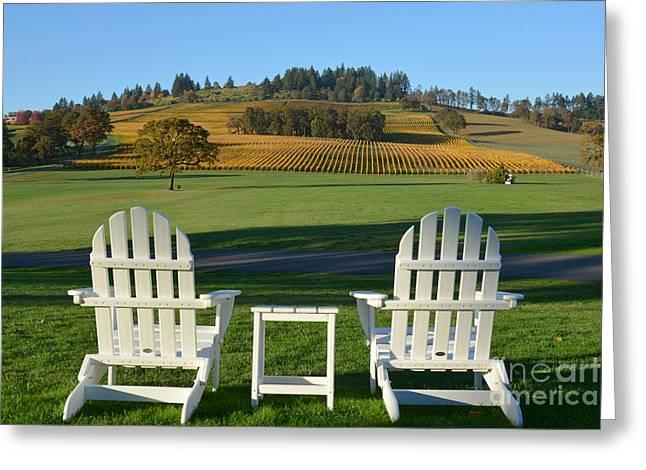 Enjoying Oregon Wine Country Greeting Card