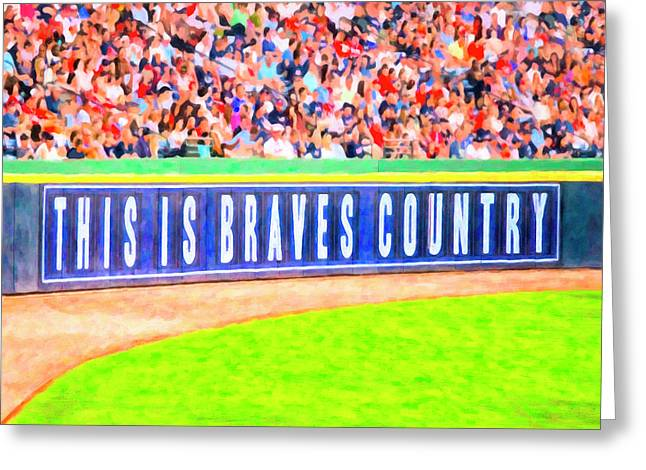 Enjoying The Game In Brave's Country Greeting Card