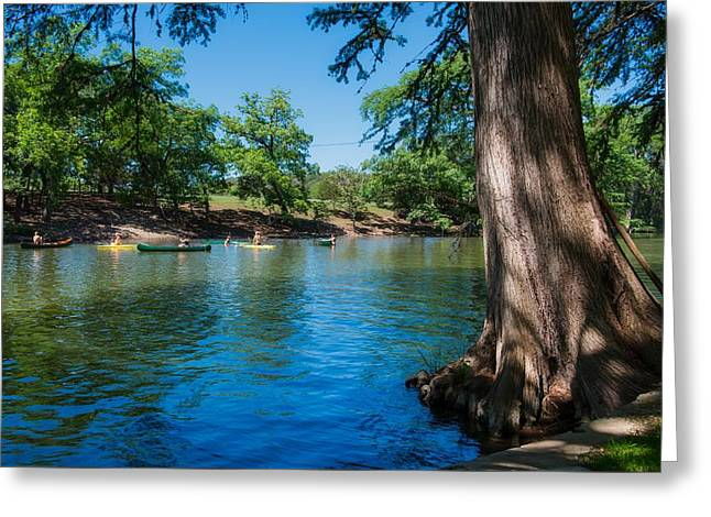 Enjoying The Guadalupe River - Camp Waldemar Texas Greeting Card by L O C
