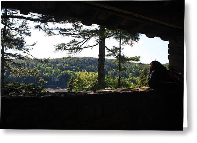 Greeting Card featuring the photograph Enjoying The View II by Greg DeBeck