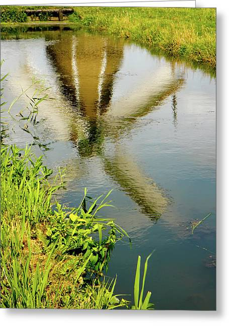 Greeting Card featuring the photograph Enkhuizen Windmill by KG Thienemann