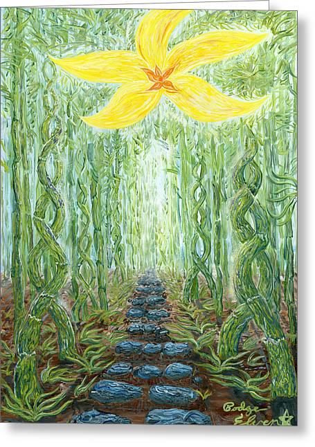 Enlightened Path/ Hana's Gateway Greeting Card by Podge Elvenstar