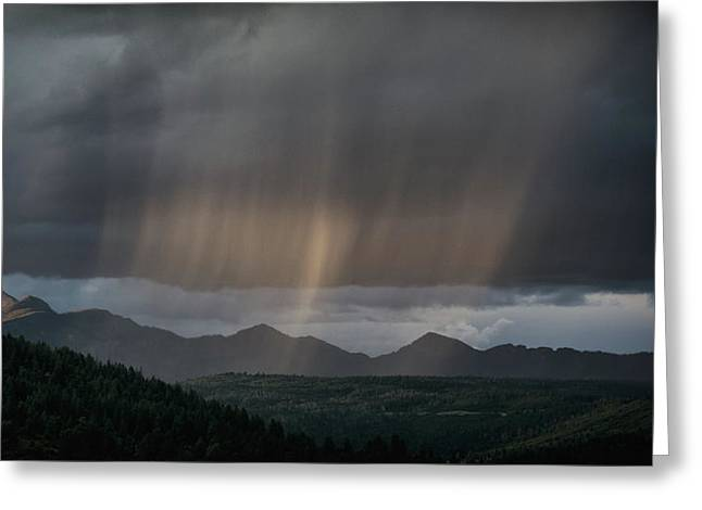 Greeting Card featuring the photograph Enlightened Shafts by Jason Coward