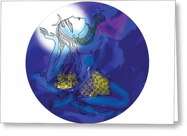 Enlightened Shiva  Greeting Card