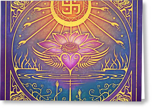 Buddhist Digital Greeting Cards - Enlightenment Greeting Card by Cristina McAllister