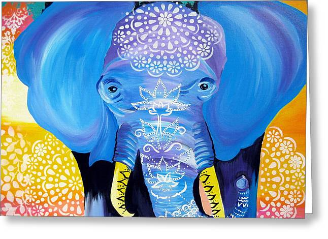 Enormous Joy Greeting Card by Cathy Jacobs
