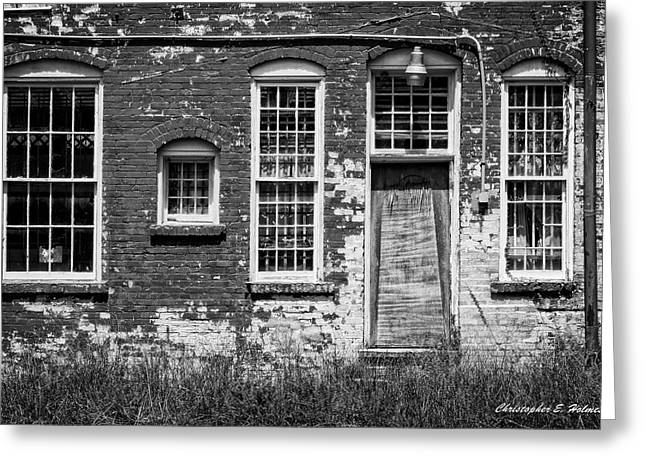 Greeting Card featuring the photograph Enough Windows - Bw by Christopher Holmes