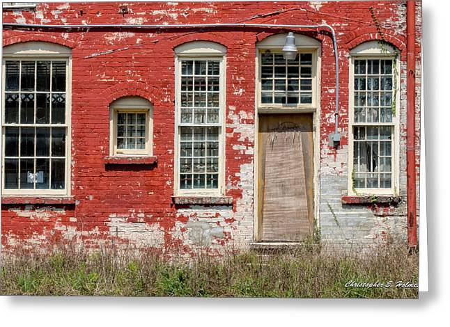 Greeting Card featuring the photograph Enough Windows by Christopher Holmes