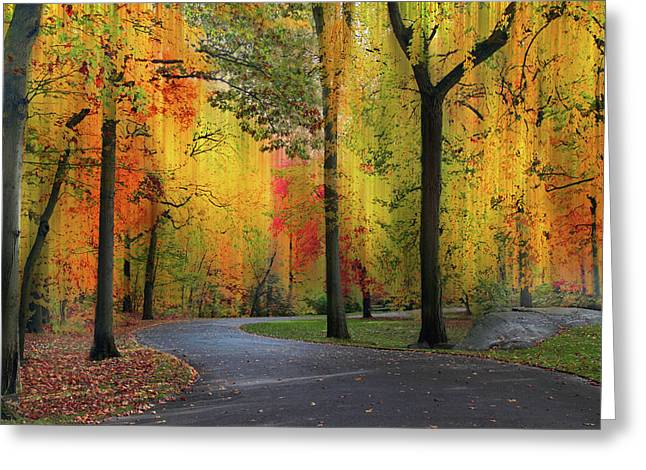 Ensconced In Autumn Greeting Card