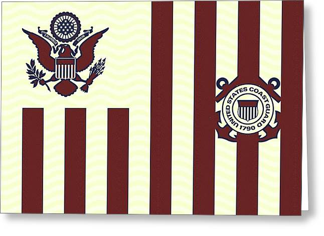 Ensign Of The United States Coast Guard 3 Greeting Card