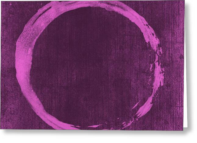 Prints Abstract Greeting Cards - Enso 4 Greeting Card by Julie Niemela