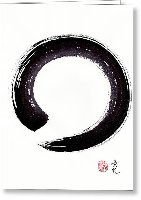 Enso - Embracing Imperfection Greeting Card