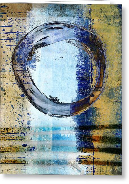 Enso Circle In Glass Greeting Card