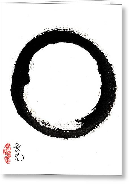 Enso Enlightenment Greeting Card by Oiyee At Oystudio