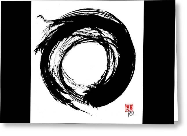Enso / Zen Circle 15 Greeting Card