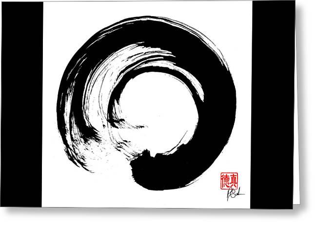 Enso / Zen Circle 16 Greeting Card