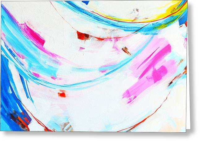 Entangled No. 8 - Left Side - Abstract Painting Greeting Card
