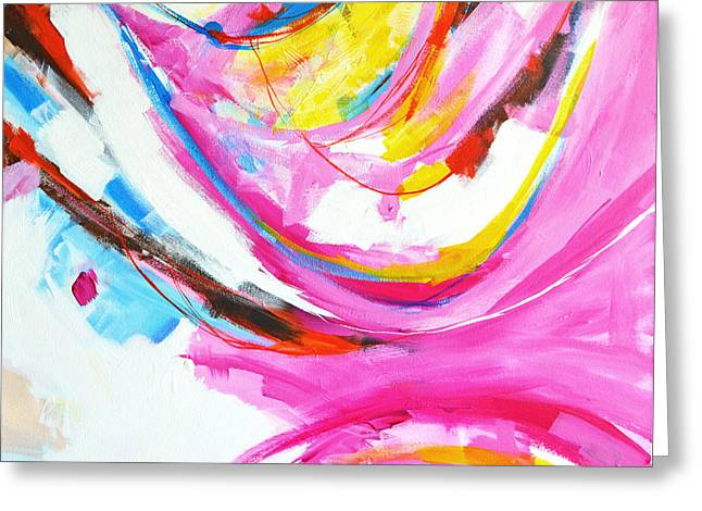 Entangled No. 8 - Right Side - Abstract Painting Greeting Card