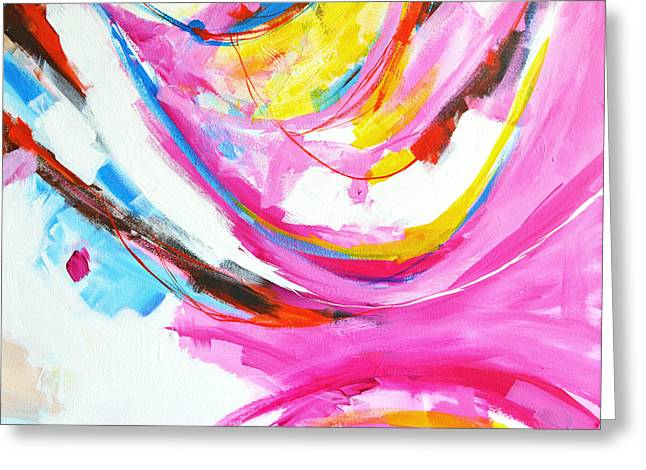 Entangled No. 8 - Right Side - Abstract Painting Greeting Card by Patricia Awapara