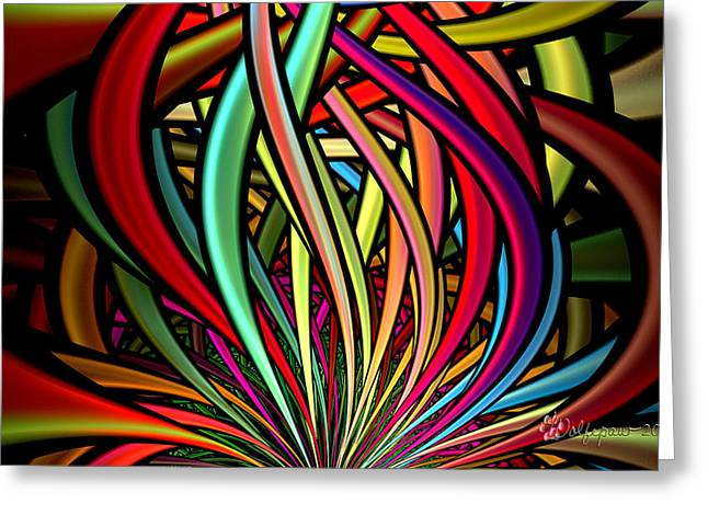 Entanglement Greeting Card by Peggi Wolfe
