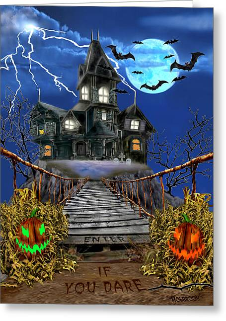 Enter If You Dare Greeting Card