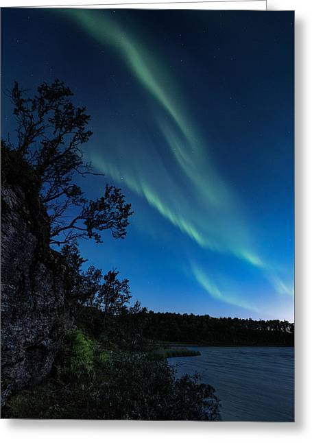 Enter Night Greeting Card by Tor-Ivar Naess