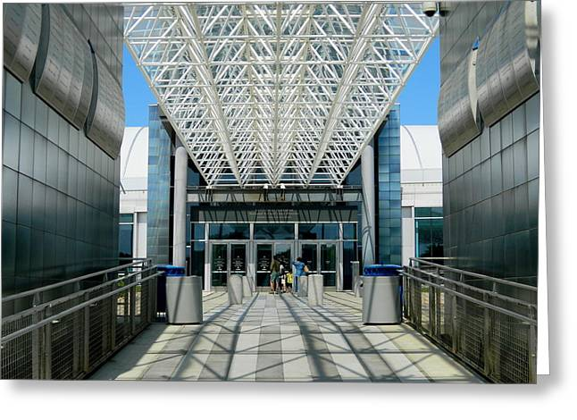Entering Air And Space  Annex Greeting Card by Arlane Crump