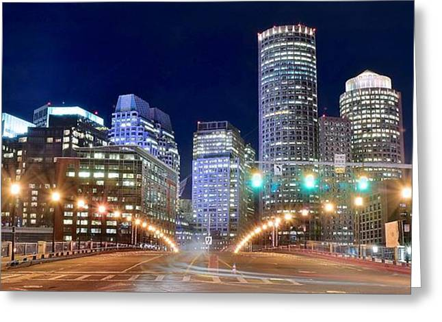 Entering Boston Greeting Card by Frozen in Time Fine Art Photography
