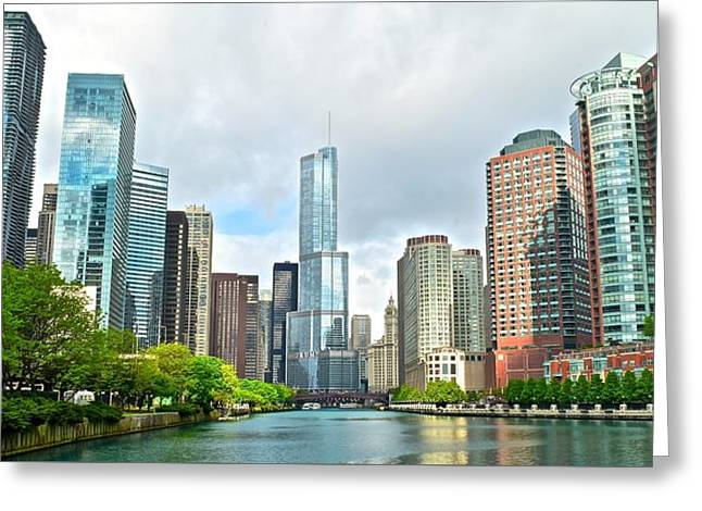 Entering Chicago Greeting Card by Frozen in Time Fine Art Photography