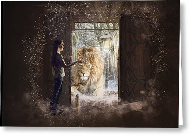 Entering Narnia Greeting Card