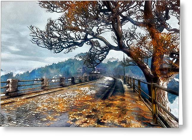 Entering Red Creek Valley Greeting Card