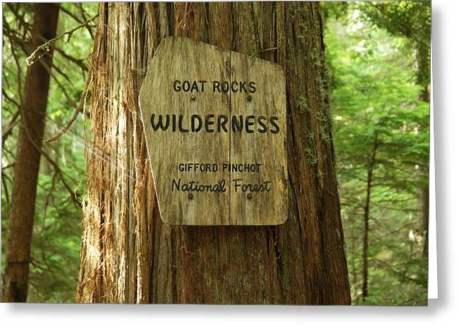 Entering The Goat Rocks Greeting Card