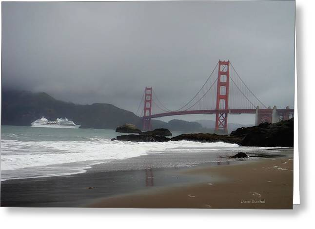 Entering The Golden Gate Greeting Card