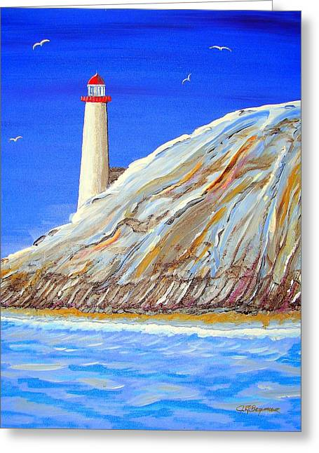 Entering The Harbor Greeting Card by J R Seymour