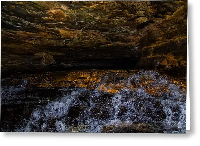 entering the unknown - Cavern Greeting Card by Chris Flees