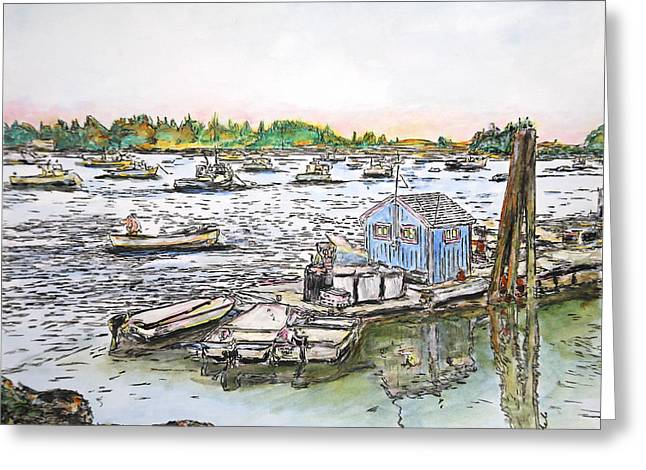 Entering Vinal Haven, Maine Greeting Card