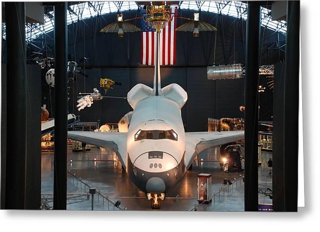 Enterprise Space Shuttle Greeting Card by Renee Holder