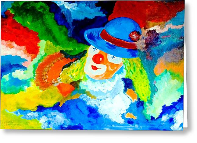 Greeting Card featuring the painting Entertainer by Piety Dsilva