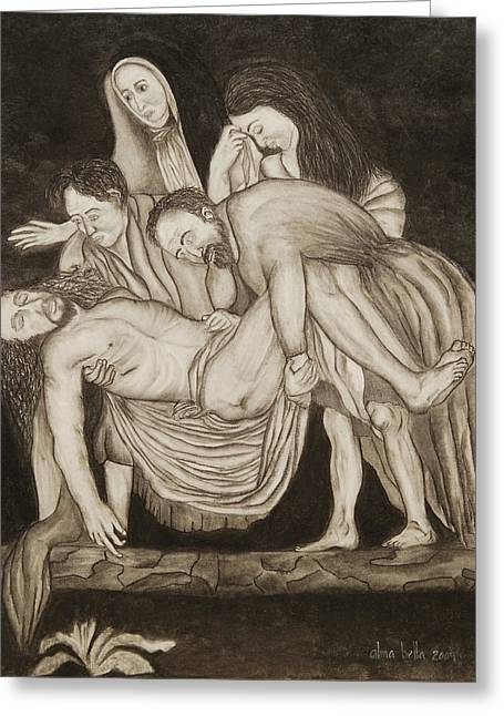 Entombment Greeting Card