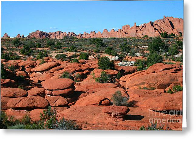 Entrada Sandstone Formations - Arches National Park Greeting Card