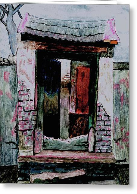 Entrance Gate Greeting Card by Merton Allen