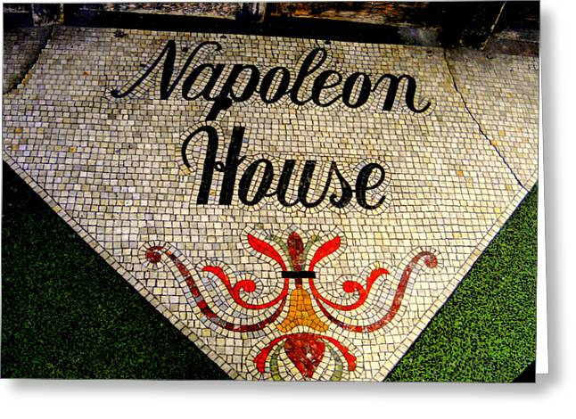Entrance Mosaic Napoleon House Greeting Card by Ted Hebbler