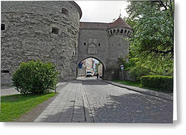 Entrance Of A Fortress, Fat Margaret Greeting Card by Panoramic Images