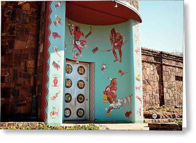 Entrance Of Woolaroc Museum - Photography Greeting Card