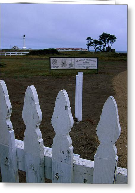 Entrance - Point Arena Lighthouse Greeting Card by Soli Deo Gloria Wilderness And Wildlife Photography