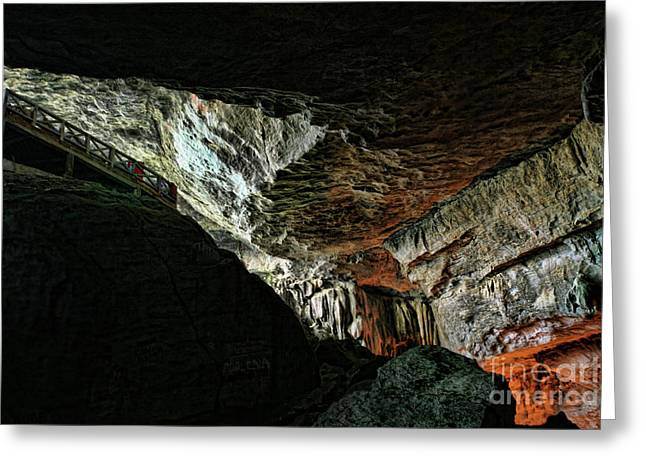 Entrance Sung Slot Cave Vietnam Greeting Card by Chuck Kuhn