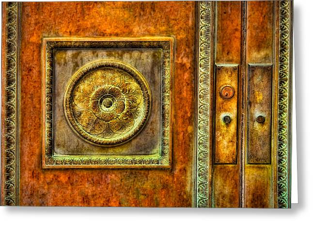 Knob Greeting Cards - Entrance Greeting Card by Susan Candelario
