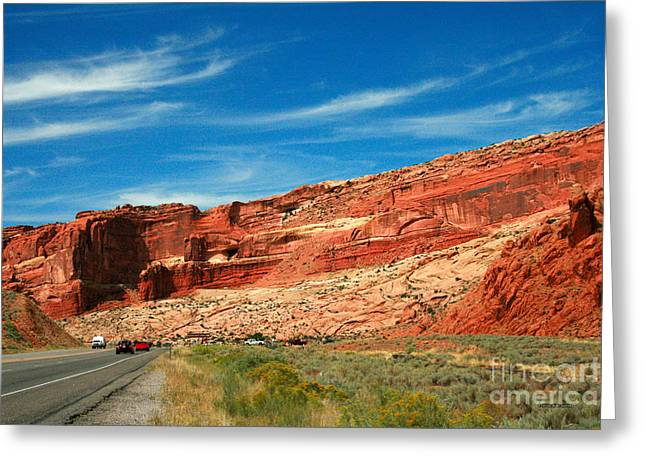 Entrance To Arches National Park Greeting Card