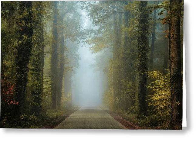 Entrance To Autumn Greeting Card